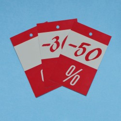 CARTELLINI ROSSI % PER PREZZI SCONTATI (500 pezzi)